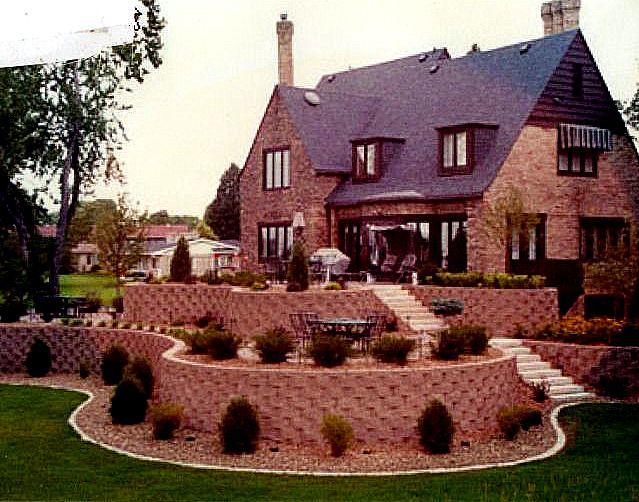 retaining walls house